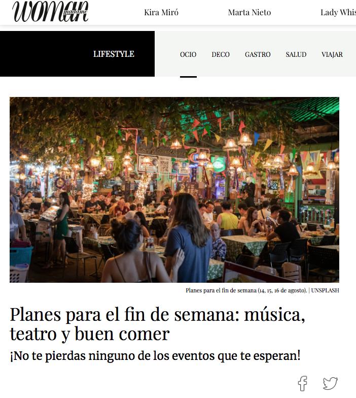 Revista Woman planes restaurante mexicano Madrid Tacos Don Manolito