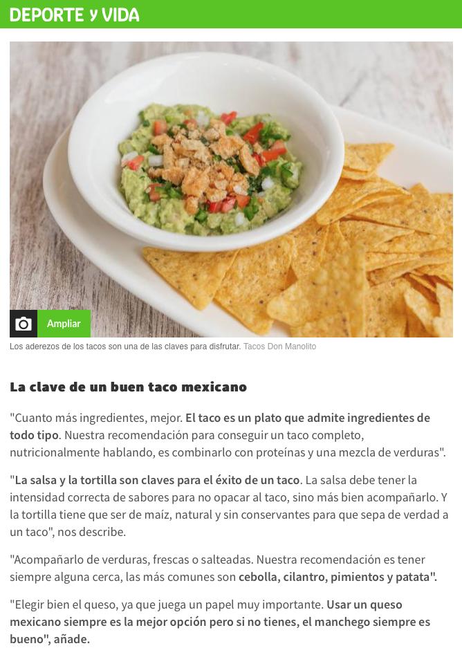 As restaurante mexicano España Tacos Don Manolito
