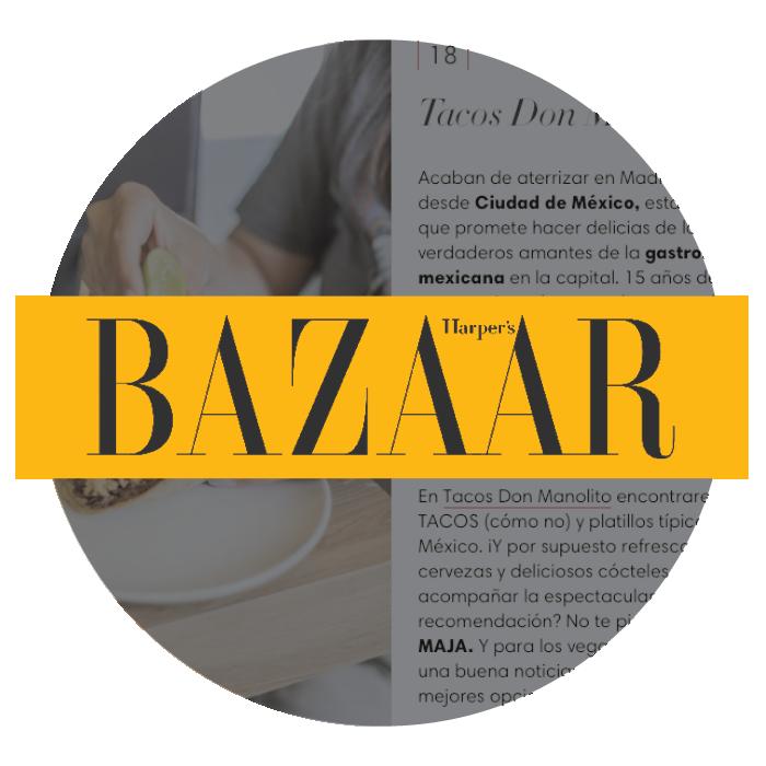 Harpers Bazaar nuevo restaurante mexicano Tacos Don Manolito Ponzano Madrid